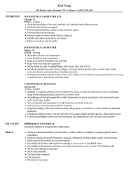 Carpentry Resume Sample Journeyman Carpenter Resume Samples Velvet Jobs 8