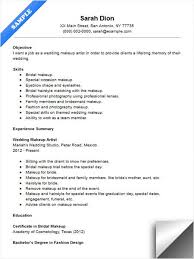 Sample Makeup Artist Resume Best Of Wedding Makeup Artist Resume Sample Resume Examples Pinterest
