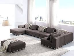 contemporary modern brown fabric sectional sofa h 2 best bed the brick set