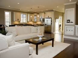 Open Living Room And Kitchen Designs With Fine Open Concept