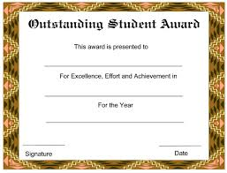 Free Award Certificate Templates For Students Certificates Template Condo Financials Com