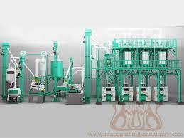 Flour Milling Plant Design High Quality Of 10 100t D Corn Meal Flour Milling Machine