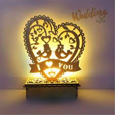 Amazoncom Hankyky Wedding Decoration Diy Led Night Table Lamp Mr