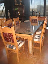Copper Top Kitchen Table Dining Room Furniture In Southwestern Style Built In New Mexico