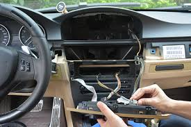 how to install android bmw e60 navigation head unit professional remove the two screws at the top middle instrument panel some models don t have these screws pry and pull the climate control panel towards you force