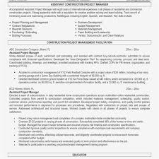 Assistant Project Manager Resume Job Description Senior Project Manager Job Description Construction