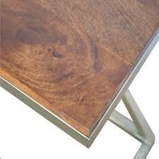 iron zig zag side table