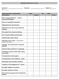 Behavior Charts 6 Free Templates In Pdf Word Excel Download