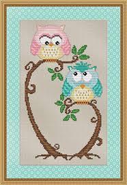 Owl Cross Stitch Pattern Interesting Amazon Love At First Sight Cross Stitch Pattern Cute Hoot Owl
