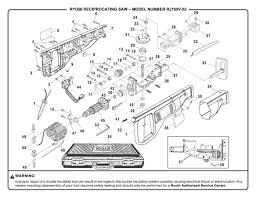 reciprocating saw parts. ryobi rj150v-02 reciprocating saw parts