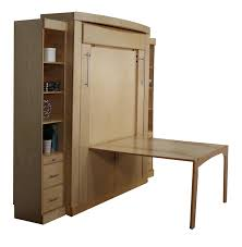 wallbeds murphy queen euro deluxe wallbed drop down table bookcase with desk birch wood lights storage