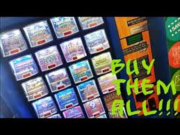 Florida Lotto Vending Machines Amazing BUYING ALL THE LOTTERY TICKETS IN THE MACHINE EP48 YouTube