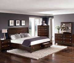 Dark Brown Wood Bedroom Furniture Modest With Regard To