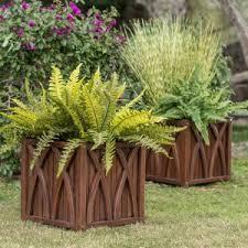 Belham Living Ashbury Wood Planter - Set of 2 - 15L x 15D x 15H