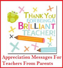 Teacher Message Appreciation Messages And Letters Teachers