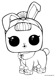Lol Surprise Pets Coloring Page Crystal Bunny Pages Printable