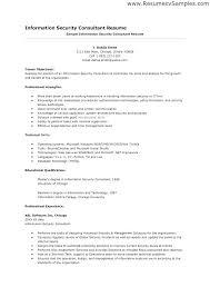 Sample Security Consultant Resume Software Consultant Sample Resume Ha