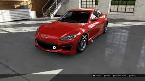 mazda rx8 modified red. forza motorsport 5 tuning house rx8 mazda rx8 modified red