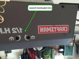 garage door opener adjust how to adjust craftsman garage door opener stanley garage door opener adjust