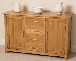 Living Room Sideboards And Cabinets Oslo Solid Oak Large Sideboard Oak Furniture King