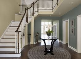 an open floor plan has diffe variations of the same color
