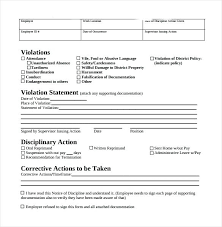 employee discipline template employee discipline forms documenting issues template apvat info