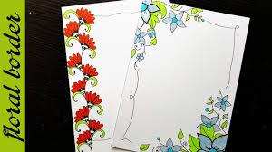 Flower Border Designs For Paper Easy Flower Border Designs On Paper Border Designs Project