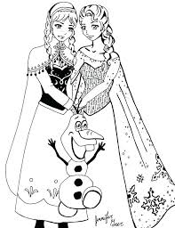 Small Picture Free Printable Frozen Coloring Pages Corresponsablesco