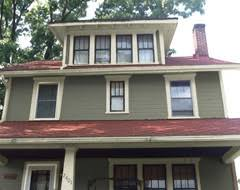 exterior color schemes with red roof. exterior paint scheme for house with red roof. options shown grey, olive, color schemes roof