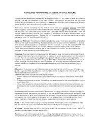 Resume Sample Httptopresume Infoamerican Style Resume Sample
