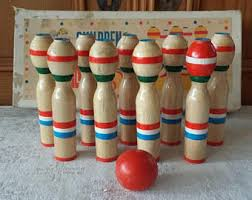 Antique Wooden Bowling Game Wooden bowling game Etsy 38