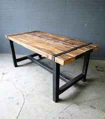 steel dining table frame free architecture iron and wood dining tables modern home design throughout metal