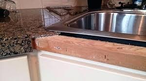 how to install tile edge kitchen countertop edges