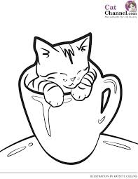 Impressive Free Coloring Pages Of Cats B8680 Ideal Free Printable
