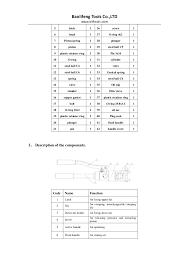 Yqk 70 Die Chart Yqk Series Yqk 240 Yqk 300 Hydraulic Crimping Tool