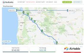 Trip Planner Calculator Oregon Travel Distance Calculator