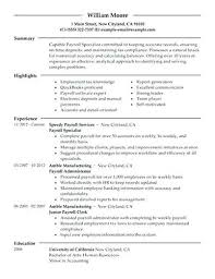 Payroll Resume Samples Payroll Resume Samples Extravagant Sample Manager Mmventures Co