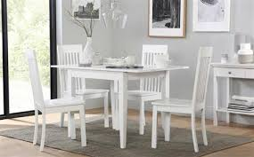 white kitchen table sets. devon white extending dining table - with 4 oxford chairs kitchen sets u