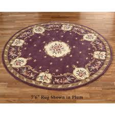 fleur de lis aubusson round rug