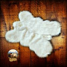 Faux Bearskin Rug Faux Fur Pelt Rug Mini Mountain Bear Plush Shag Luxury Fur