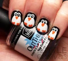 Penguin Nail Art, Christmas Nail Designs Dotting Tool Together ...
