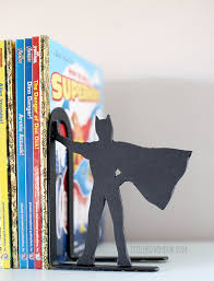 littleredwindow.com DIY Superhero Bookends for the comic book lover in your  life!