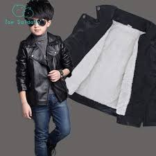 boy leather jacket children spring autumn plus velvet outerwear kids jackets clothing boy coats 798b61