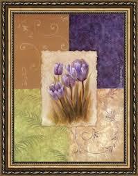 vivian flasch amethyst tulip framed painting