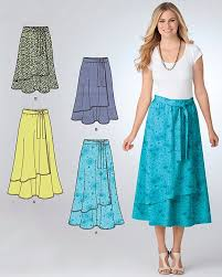 Plus Size Skirt Patterns New PLUS SIZE SKIRT Sewing Pattern Easy Pull On Skirts 48 Lengths 48