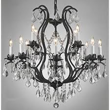 wrought iron crystal chandelier h30 x w28 lighting in and chandeliers decor 6