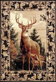 deer area rug bedding n more regal pride whitetail deer rug in 3 sizes and hall
