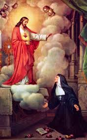 appears to st margaret mary asking for devotion to his sacred heart