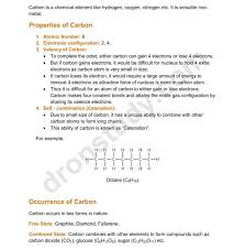 Chapter Notes Carbon And Its Compounds Class 10 Science