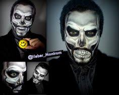 maquillaje de calavera skull makeup excelente para fiestas temáticas y o de andar makeup art skull skeleton effect beard on